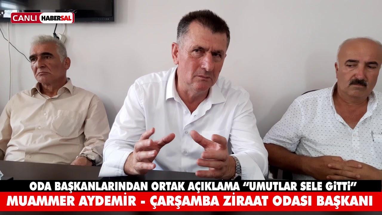 """ZİRAAT ODALARINDAN ORTAK AÇIKLAMA """"UMUTLAR SELE GİTTİ"""""""