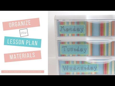 Material Drawer Organization