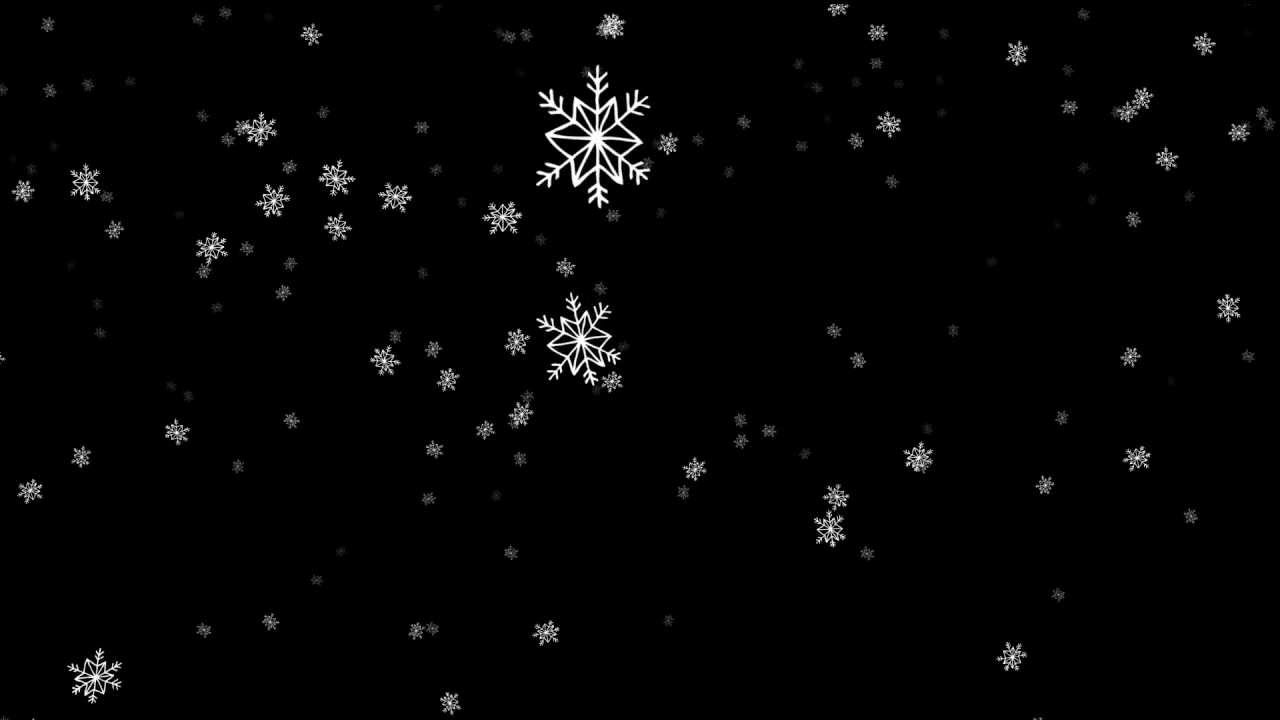 Free Download Of Christmas Wallpaper With Snow Falling Cartoon Snowflakes Falling Big Free Hd Overlay Footage