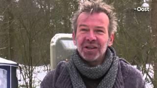 Winterkamperen in de bossen bij Dalfsen