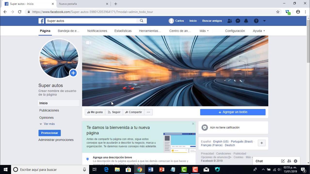 Como crear una página en facebook 2019 FÁCIL para empresa o ...