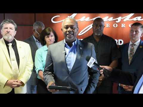 Mayor Reads Commission Statement Regarding Sammy Sias