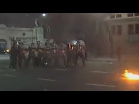 Incidentes frente al Congreso en un acto por la aparición de Santiago Maldonado