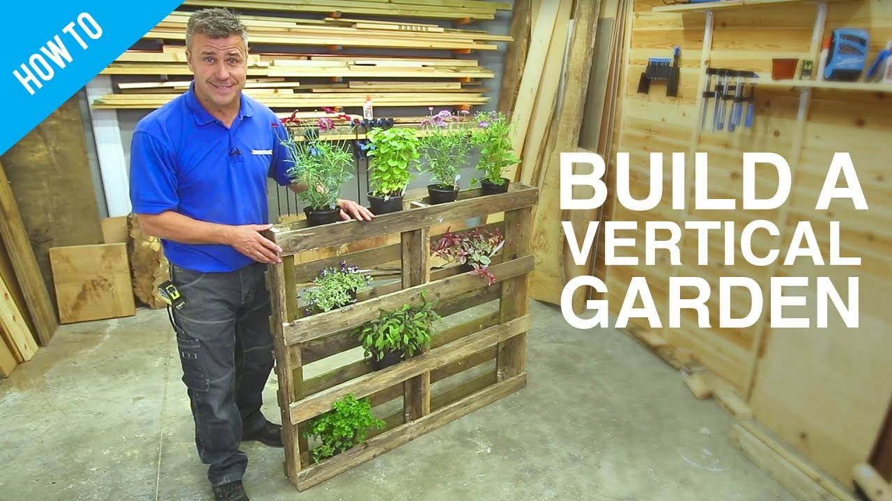 how to build a diy vertical wall garden - Wall Garden