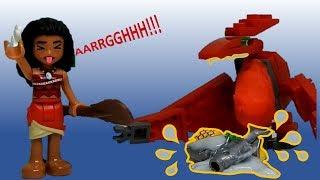 Moana Lego Aventura Divertida com Dinossauro Dimorfodonte! Stop Motion Fun Video Stop
