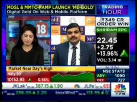 Mr. Kishore Narne discussing Me-Gold and its features on CNBC TV18