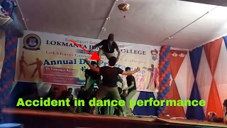 Accident in dance performance