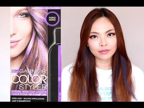 How To Dye Hair Lavender Garnier Color Styler Purple