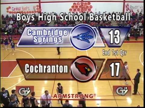 Cambridge Springs vs Cochranton-Boys High School Basketball