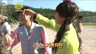 APINK Eunji piggyback B2ST Yoseob @ idol prince