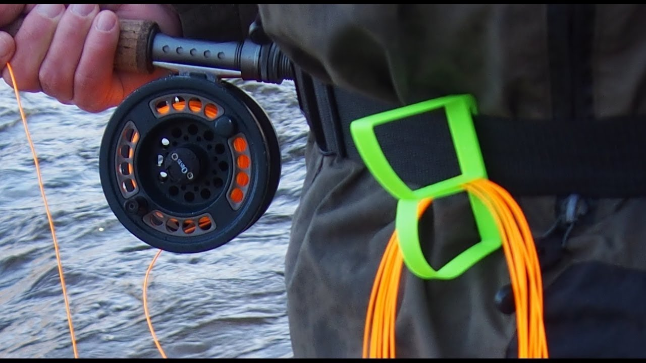 3d printed fly fishing line holder and rod holder youtube for Fishing line holder