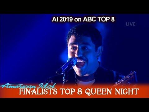 "Alejandro Aranda ""Under Pressure"" His Own Arrangement Queen Night   American Idol 2019 Top 8"