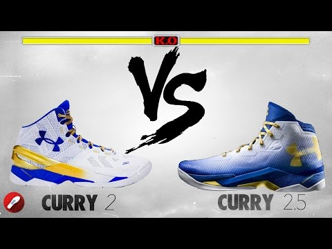 Under Armour Curry 2 vs Under Armour Curry 2.5!