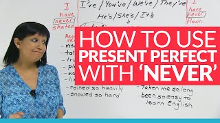 English Grammar: Using PRESENT PERFECT Tense with
