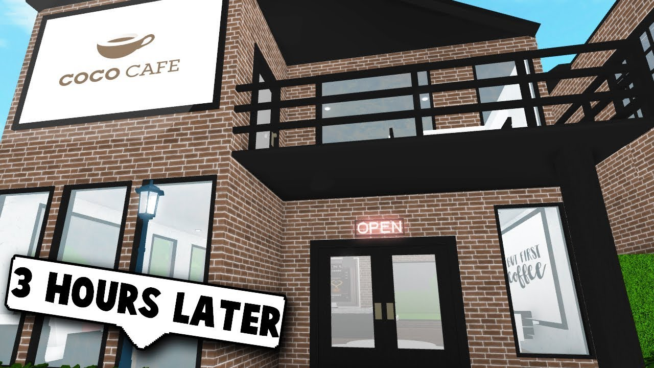 OPENING UP A COFFEE SHOP RENOVATING Roblox Bloxburg