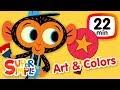 The Super Simple Show - Art & Colors | Kids Songs & Cartoons