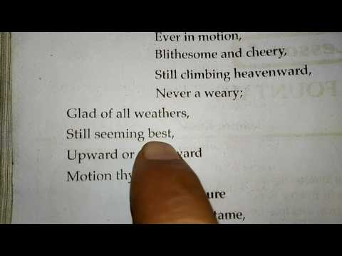 Part 1--Explanation Explanation of the poem 'the fountain' for class 10th u. P. Board