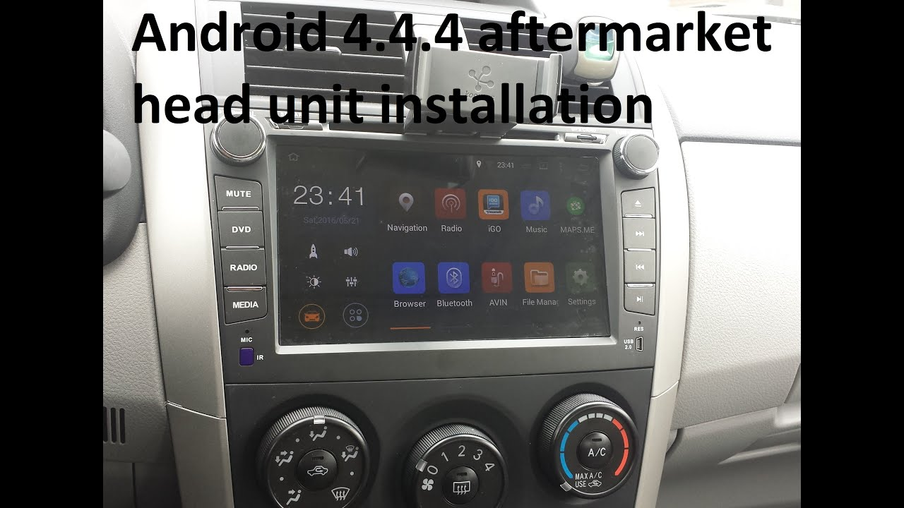 Toyota Corolla Joying Android In Dash Head Unit
