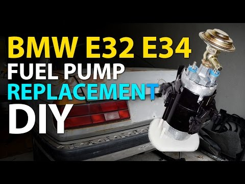 BMW E32 | E34 Fuel Pump Replacement DIY - YouTubeYouTube