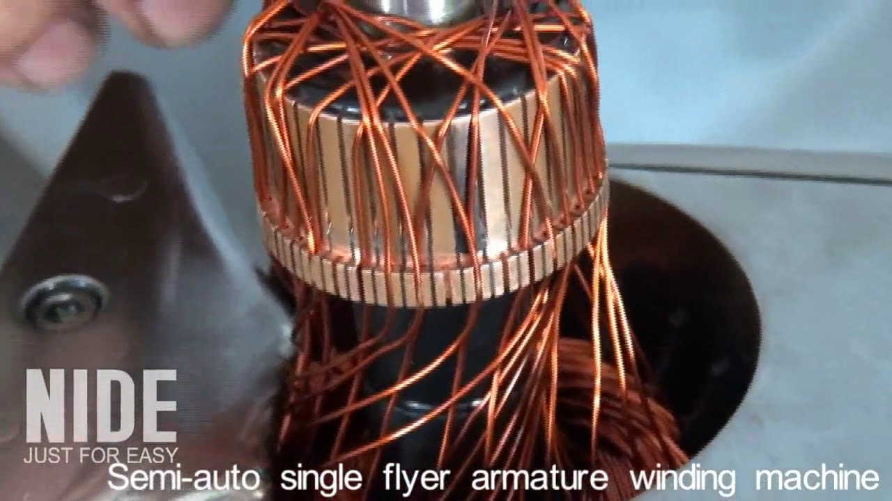 Manual Armature Winding Machine Youtube