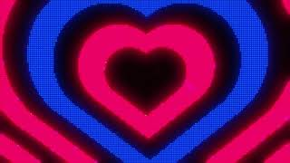 Pink and Blue Y2k Neon LED Lights Heart Background || 1 Hour Looped HD