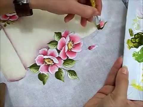 Regras da casa pintura em tecido rosas silvestres for Pinturas para pintar casas