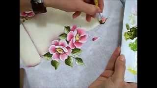 Pintura em Tecido – Rosas Silvestres – Ariane Cerveira