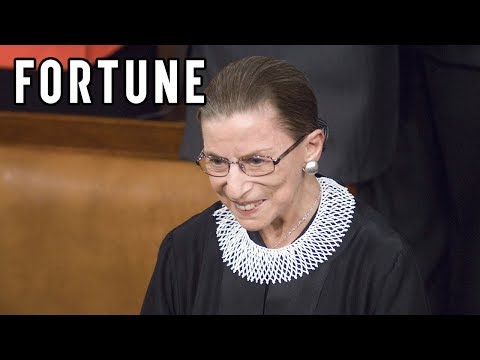 Ruth Badar Ginsburg Makes a Statement With Her 'Dissent' Collar I Fortune