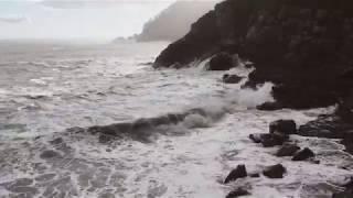 태풍이 온 후 바다1
