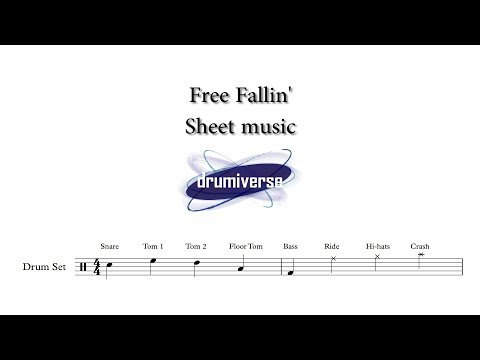 Free Falling by Tom Petty - Drum Score (Request #65)