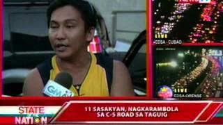SONA: 11 sasakyan, nagkarambola sa C-5 road sa Taguig