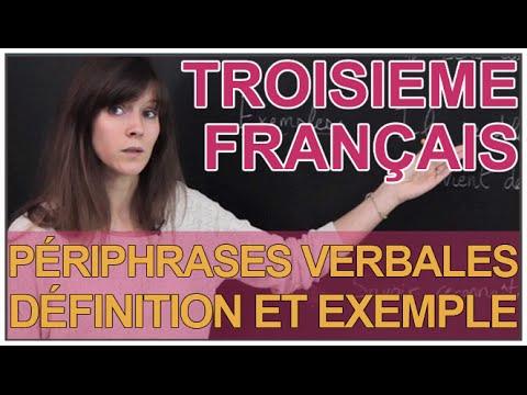 Les périphrases verbales - Définition et exemples