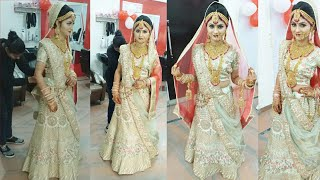 (Different) real bridal double Dupatta setting(step dy step)