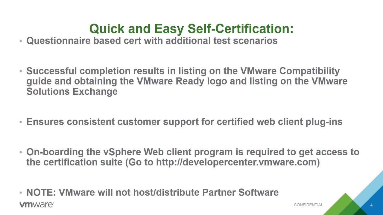 Vmware Vsphere Web Client Plug In Certification Youtube