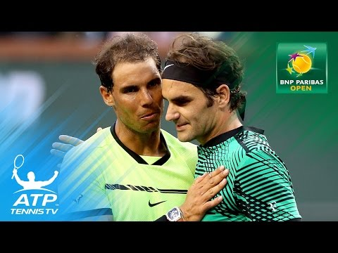 Federer amazing backhands to beat Nadal | Indian Wells 2017 Day 7
