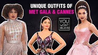 Priyanka, Deepika, Kangana, Sonam | UNIQUE Outfits Of Bollywood Actresses At Met GALA And Cannes