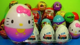 HELLO KITTY Surprise Egg!1 of 20 Kinder Surprise and Surprise eggs!