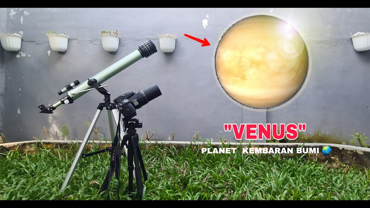 TELESCOPE ZOOM 1000X:  VENUS  (Planet terpanas dalam system Tatasurya)