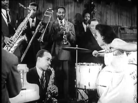 Boy! What A  Girl! 1947, Sid Catlett, Gene Krupa, Slam Stewart, Beryl Booker, (excerpt