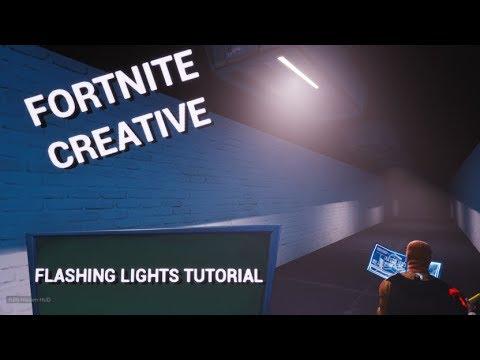 How To Make FLASHING LIGHTS In Fortnite Creative!