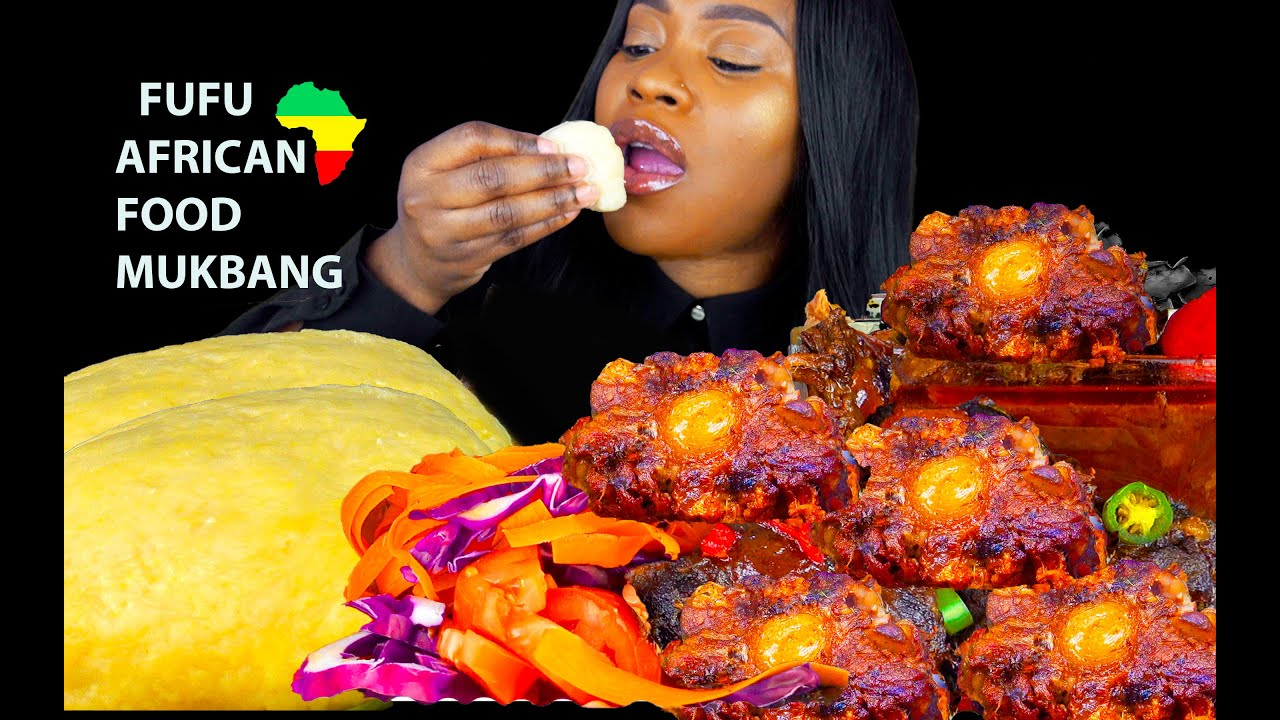 FUFU (POUNDO) MUKBANG | AFRICAN FOOD | NIGERIAN FOOD | JAMAICAN OXTAIL MUKBANG | EGUSI | Pepper Soup