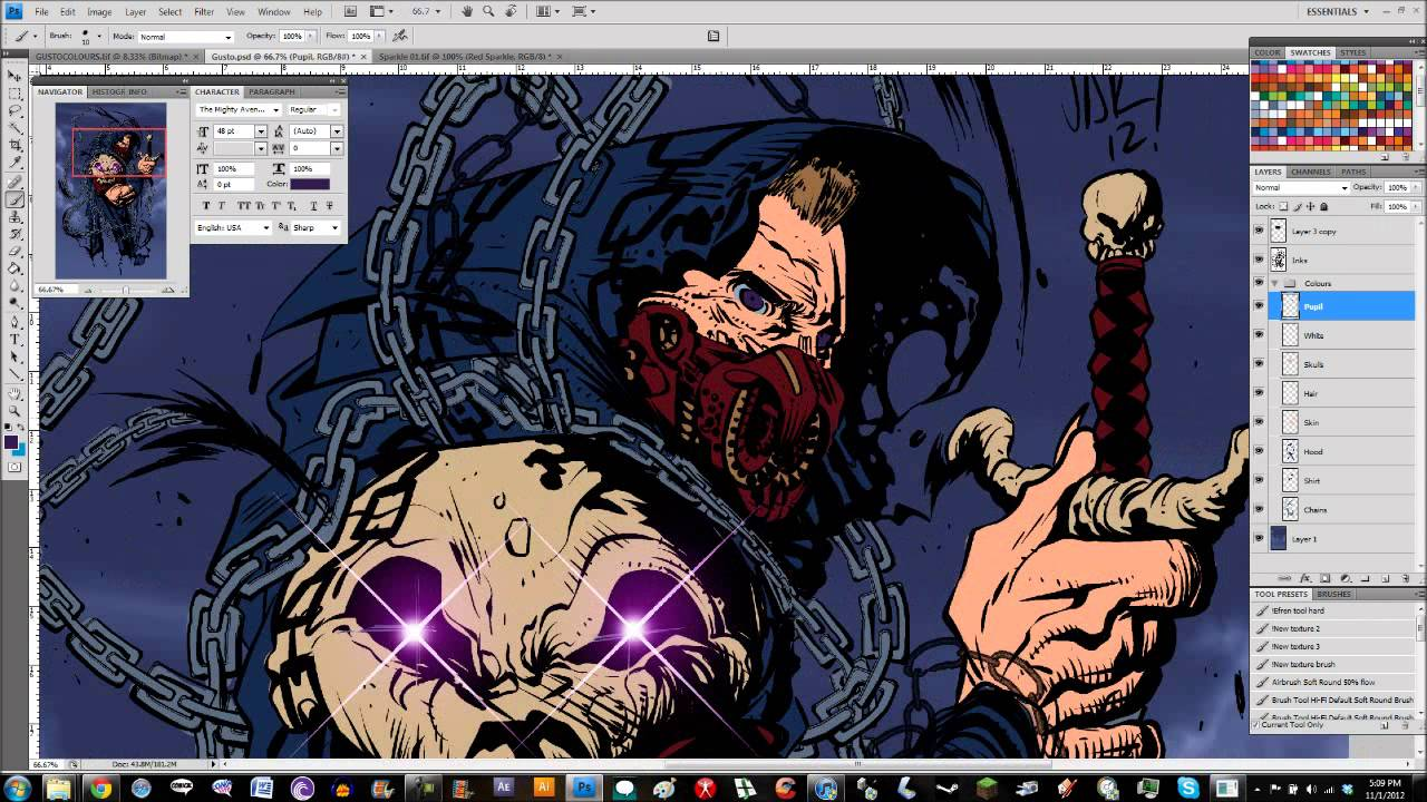 Photoshop Comic Book Coloring - YouTube