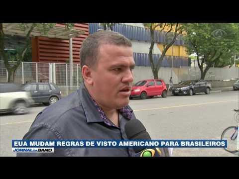 EUA mudam regras de visto americano para brasileiros