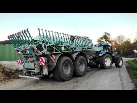 New Holland T7530 mit STREU-MIX Güllefass | AgrarTube