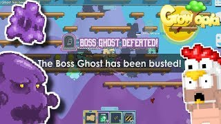 DEFEATING THE BOSS GHOST 😱😱 - Growtopia
