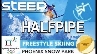 "STEEP (Olympic Games) ""HALFPIPE"" Freestyle Skiing (Gold) & GoPro-View"