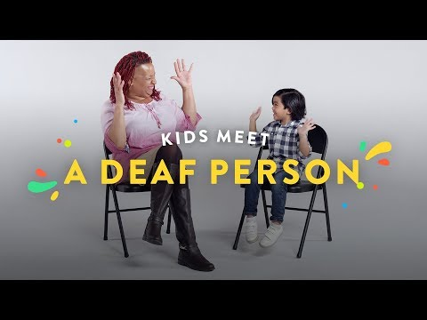 Kids Meet A Deaf Person   Kids Meet   HiHo Kids