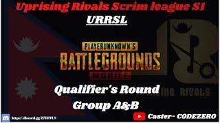"Qualifying Round ""Group C' 'Group D""& ""Group E"" URR (Scrim League) SEASON 1"
