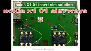 nokia x1 01 mic ways display ways ringer ways earpiece ways sim ways battery con and mmc ways jumper