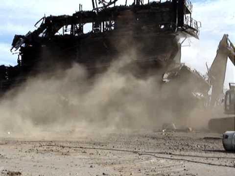 Refinery Asset Demolition using Yellow Iron, 20130128